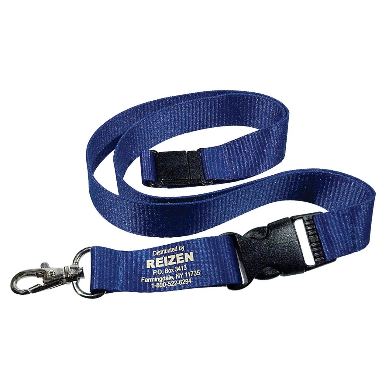 Reizen Break-Away Blue Polyester Lanyard - 36 inch Long