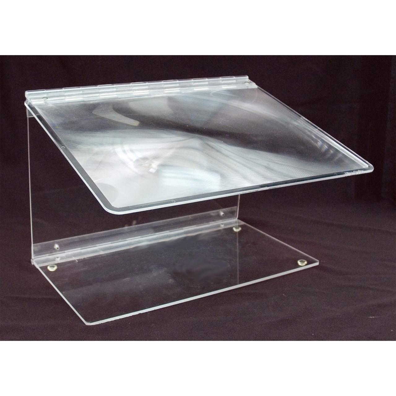 Reizen Fold-A-Mag 2x Folding Portable Page Magnifier- Clear