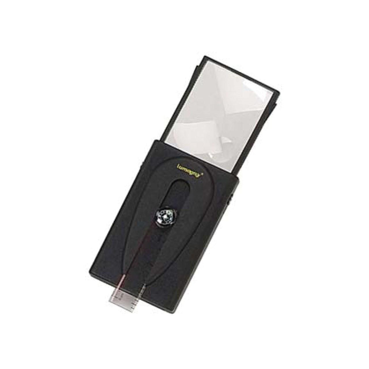 Reizen Illuminated Sliding Magnifier with Pop Up Lens - 2x or 5x