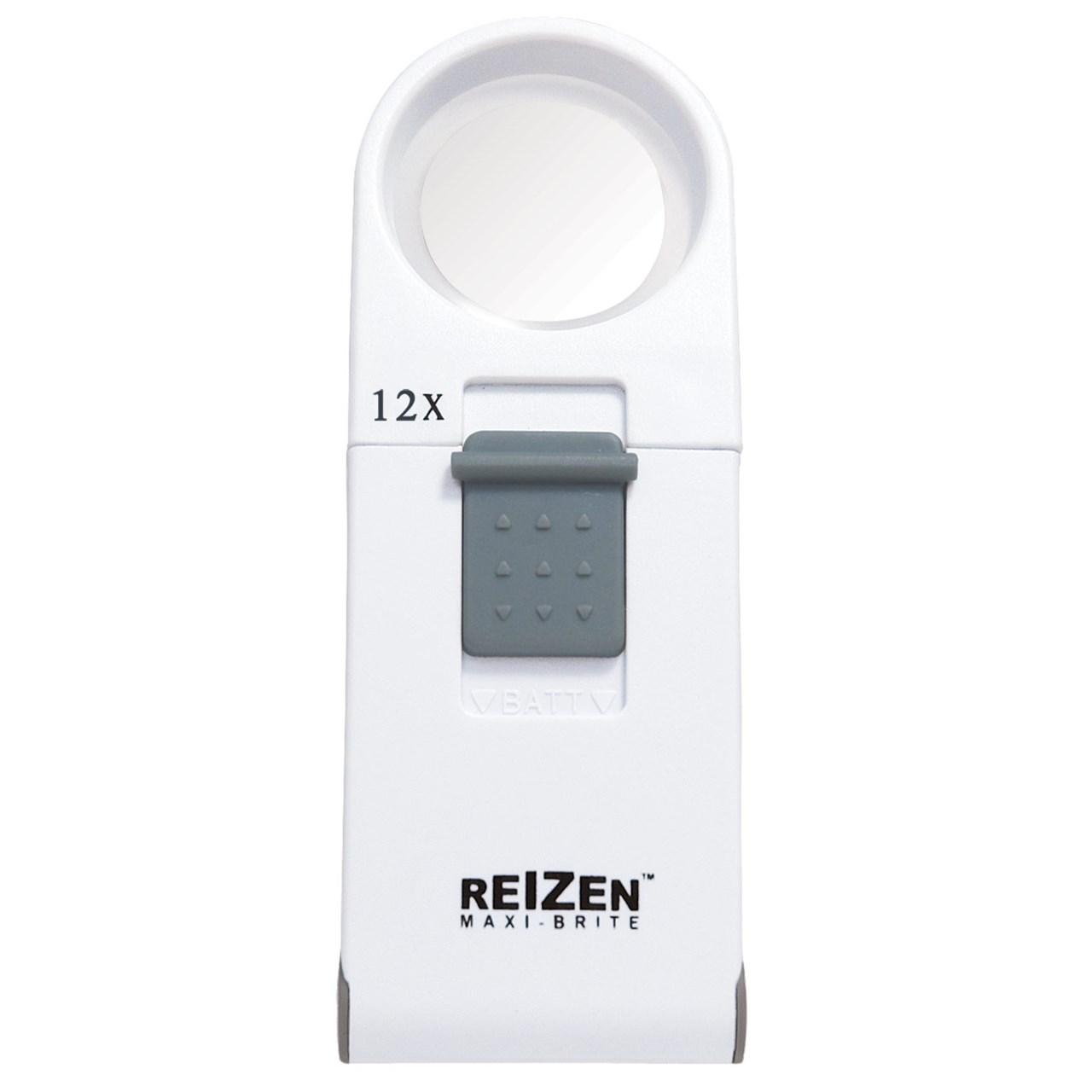 Reizen Maxi-Brite LED Handheld Magnifier - 12X