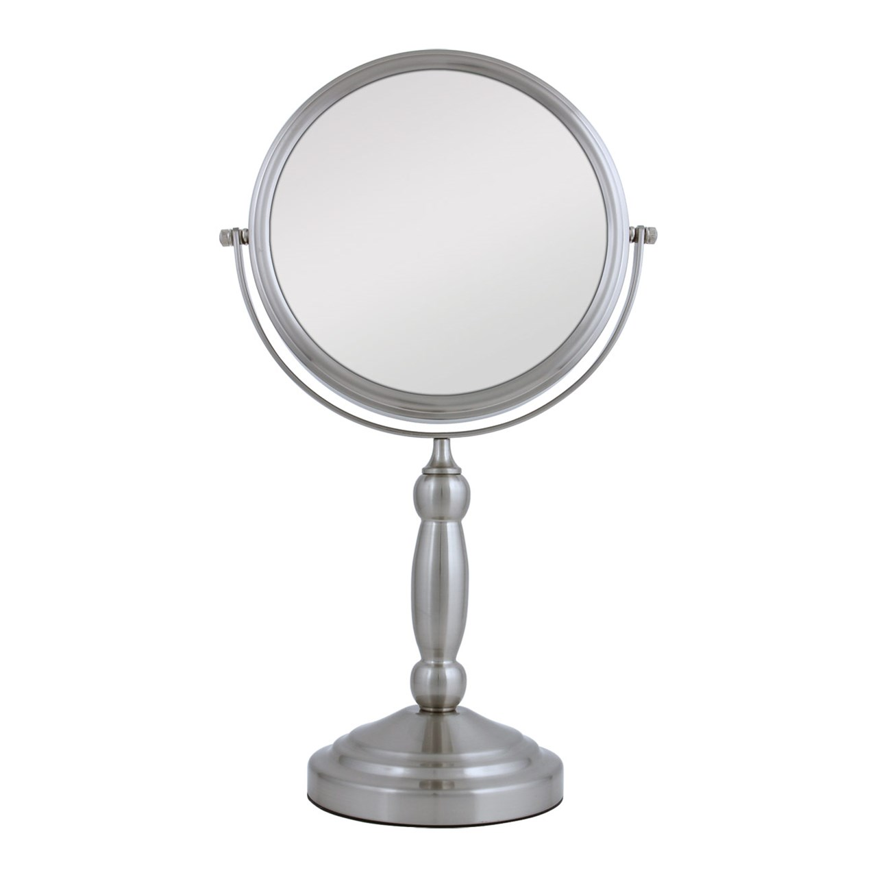 Maxiaids Swivel Vanity Mirror Pedestal Satin Nickel