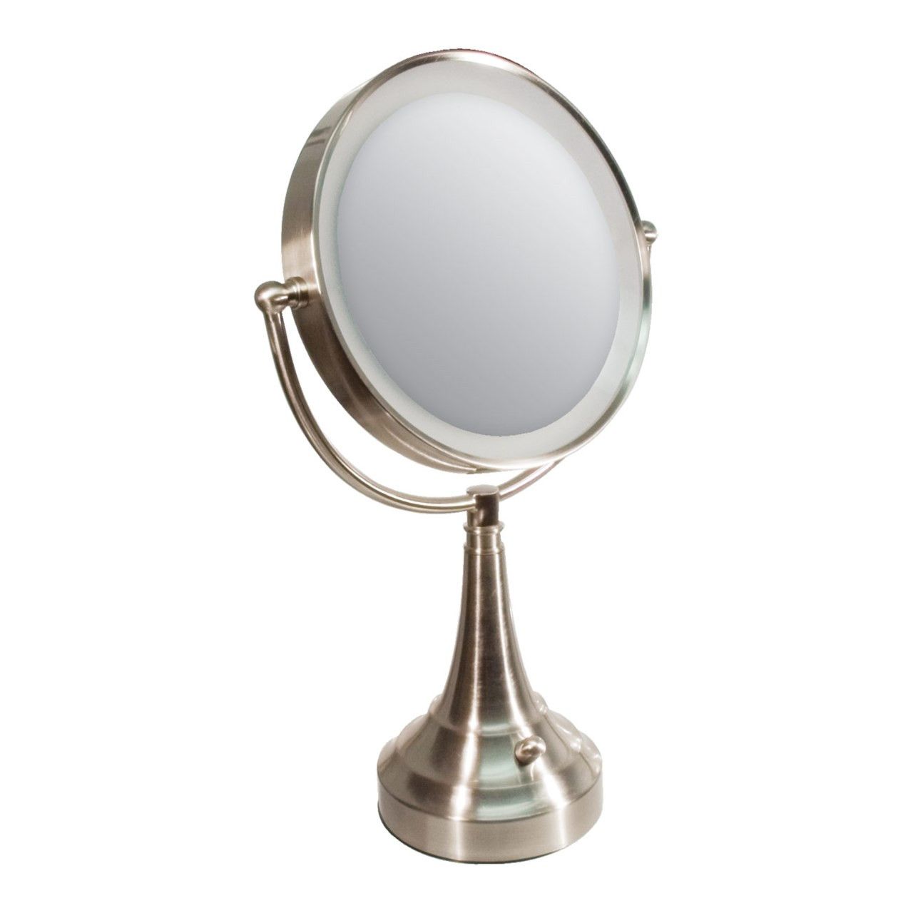 Maxiaids zadro led lighted 10x 1x vanity mirror round for Lighted mirror