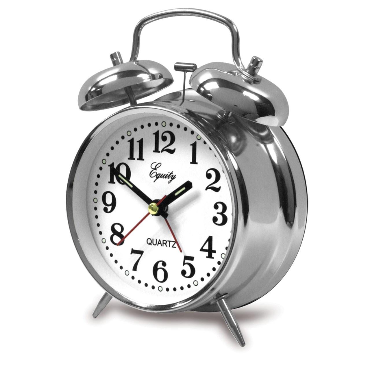 MaxiAids   Double Bell Quartz Bedside Alarm Clock