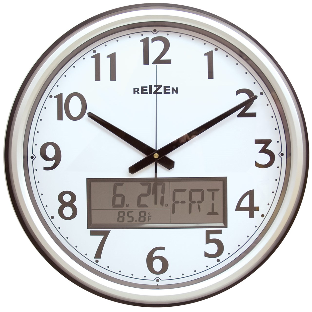 Maxiaids Low Vision Analog Lcd Wall Clock Calendar Thermom