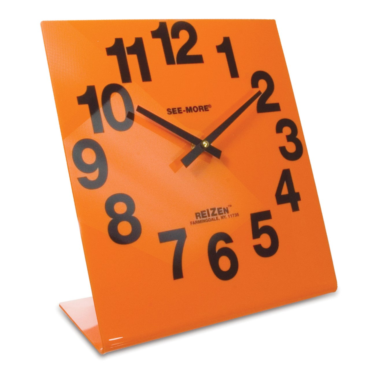 Reizen Giant View Clock- Orange Face