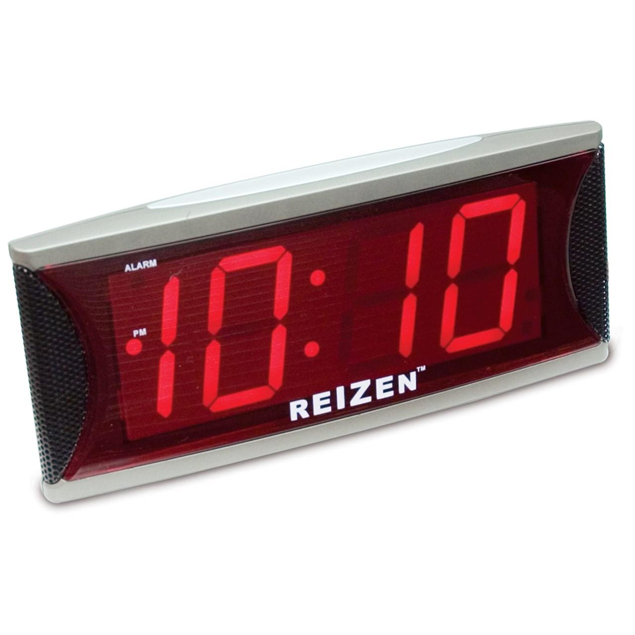 Reizen Jumbo Super Loud Alarm Clock with 2-Inch Red LED