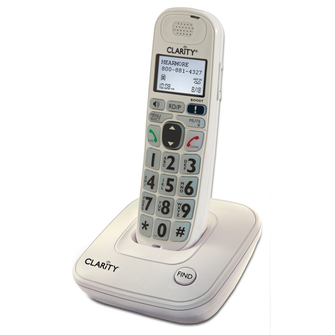 Clarity D704 Amplified Low Vision Big Button Cordless Phone - 40dB