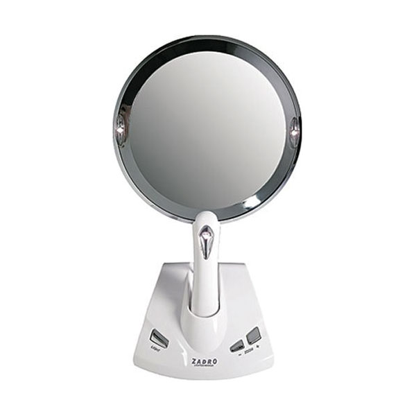 Zadro Lighted Vanity Mirror With 1x Or 5x Magnification : MaxiAids Zadro Motorized Power Zoom Lighted 1x-5x Magnification Fogless Vanit