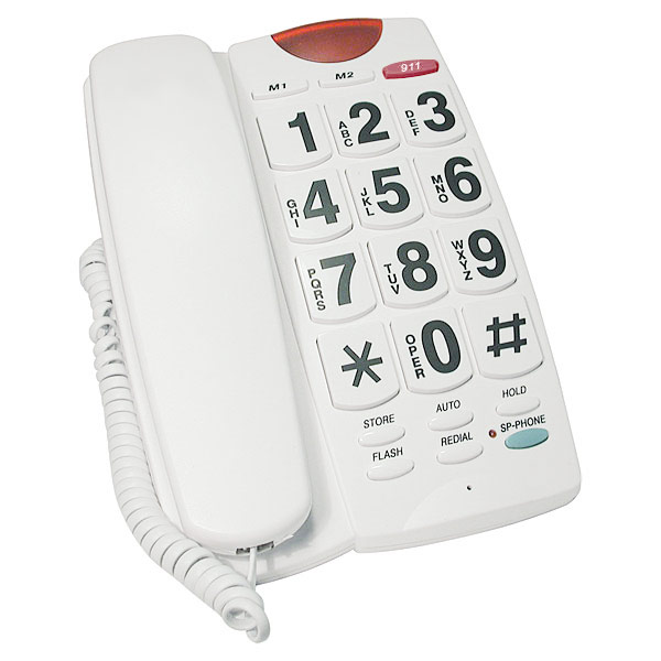 Maxiaids Big Button 40db Amplified Speakerphone White