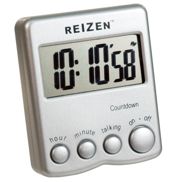 Talking Low Vision Count Down Timer - Silver