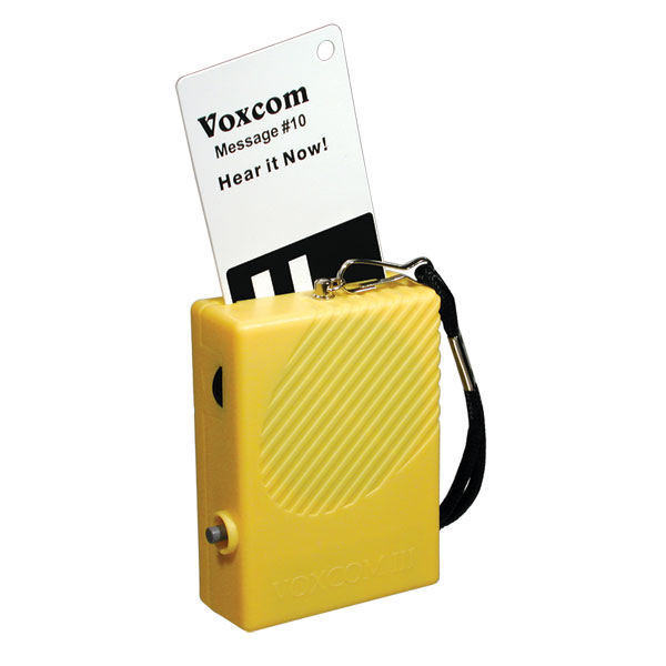 VOXCOM III 100 Voice Labeling System with 100 Cards