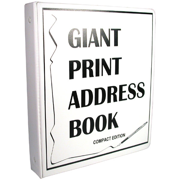 Maxiaids Compact Edition Giant Print Address Book For