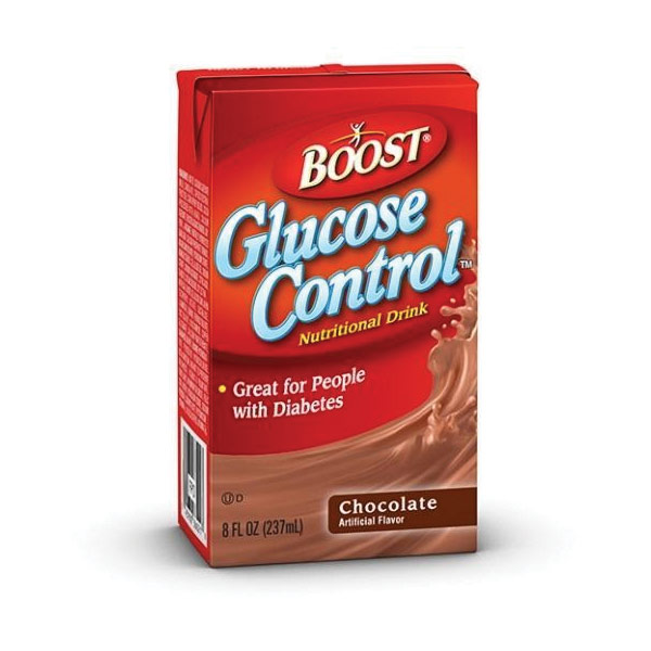 Nestle Boost Glucose Control Nutritional Drink Strawberry: BOOST Glucose Control- Chocolate-8oz Pk-Case Of 27