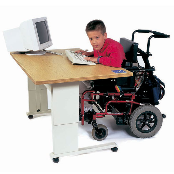 Maxiaids Accessible Computer Workstation With Hand Crank