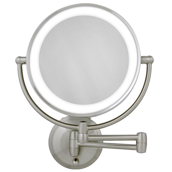 Maxiaids Led Lighted Wall Mount Round Make Up Mirror 10x 1x
