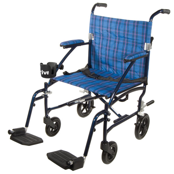 Maxiaids Drive Fly Lite Lightweight Transport Chair Blue