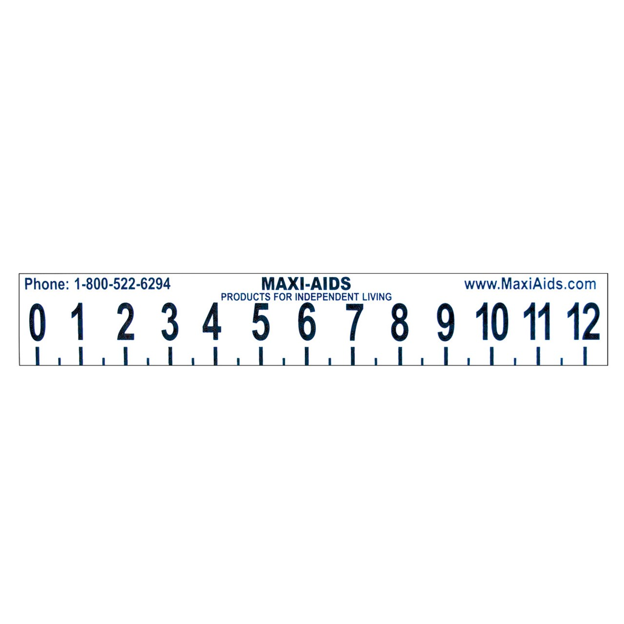 Maxiaids Large Print 12 Inch Ruler With Braille