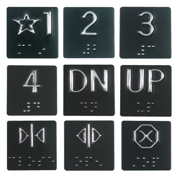 Maxiaids Braille Elevator Plates