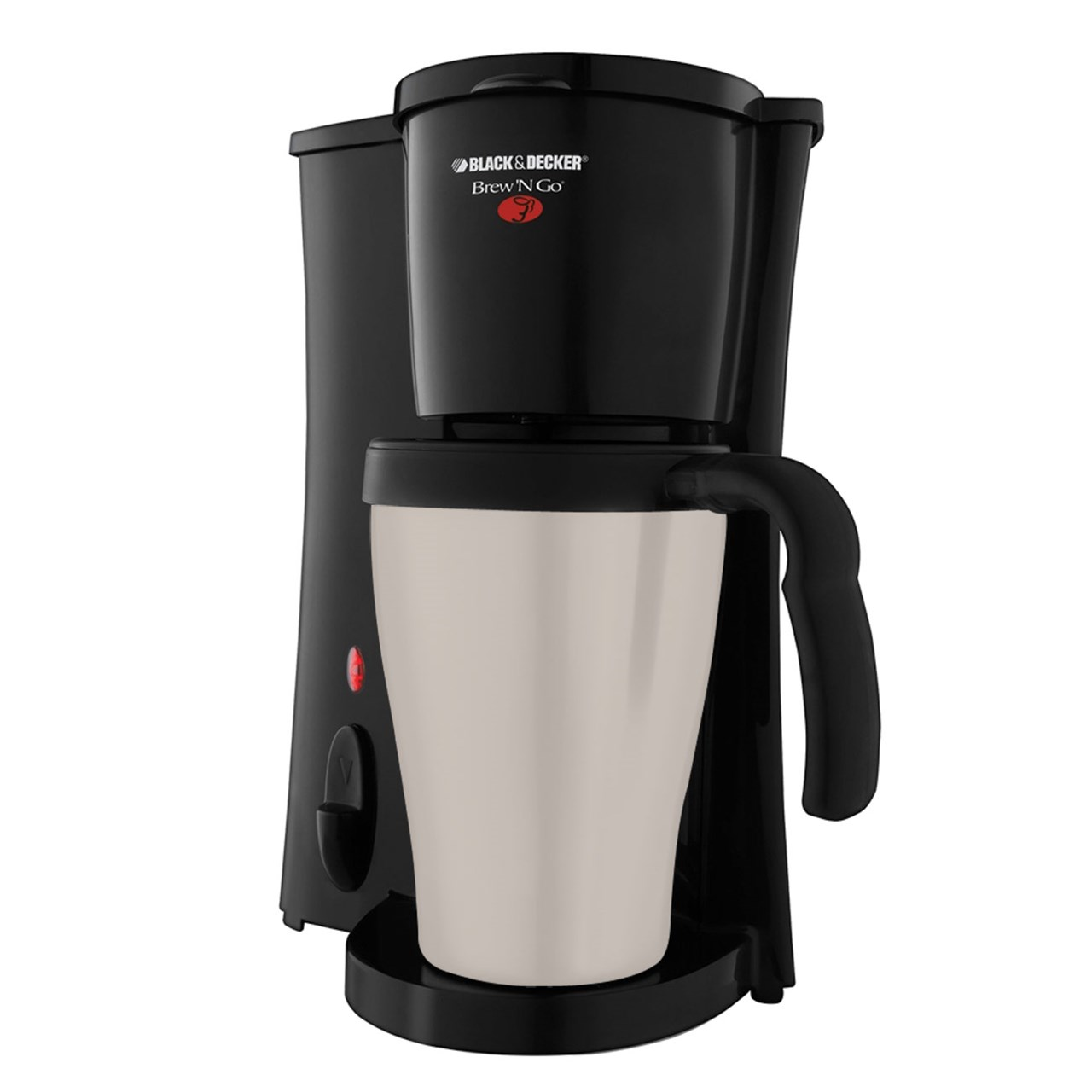Single Serving Coffee Maker Alarm Clock : MaxiAids Brew N Go Personal Coffeemaker with Thermal Mug
