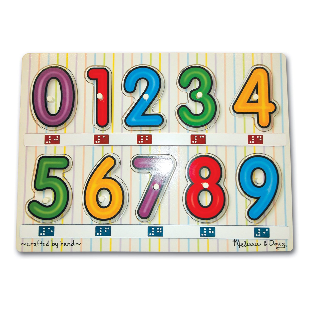 MaxiAids : Melissa and Doug Tactile Numbers Peg Puzzle 0-9 ...