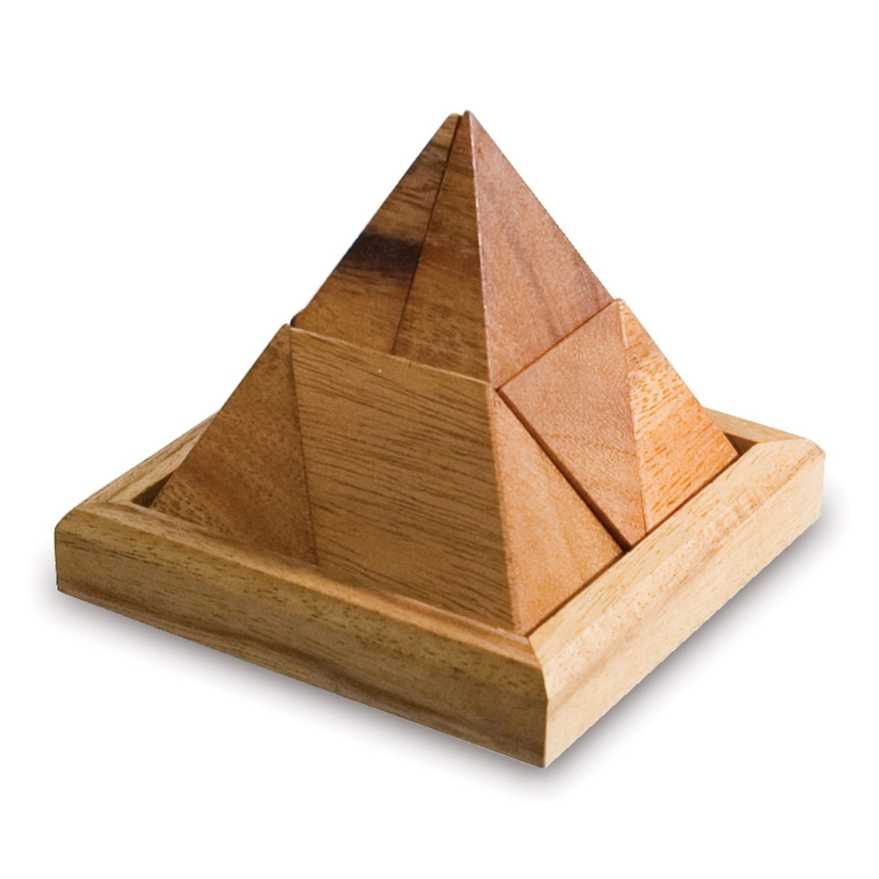 Maxiaids Pyramid Puzzle Wooden Tactile Brainteaser