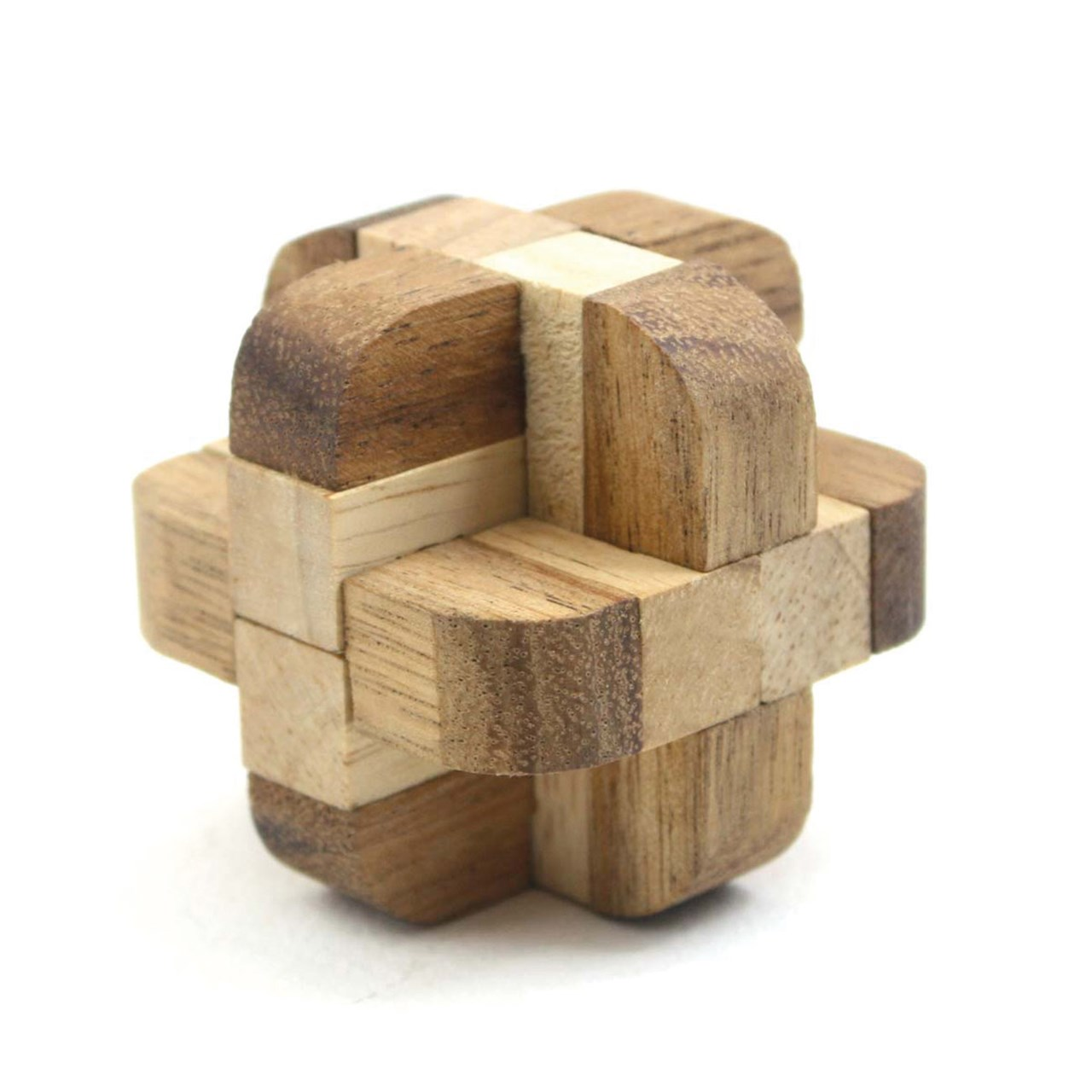 Maxiaids Diamond Cube Tactile Wooden Puzzle