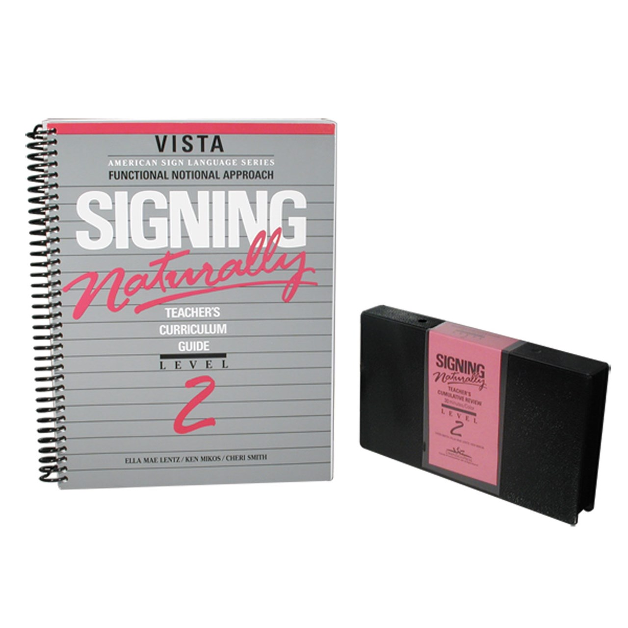 Sign language books signing naturally level 2 workbook and vhs