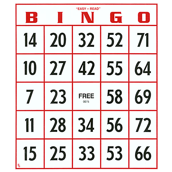MaxiAids | EZ to Read Bingo Cards -Set of 25