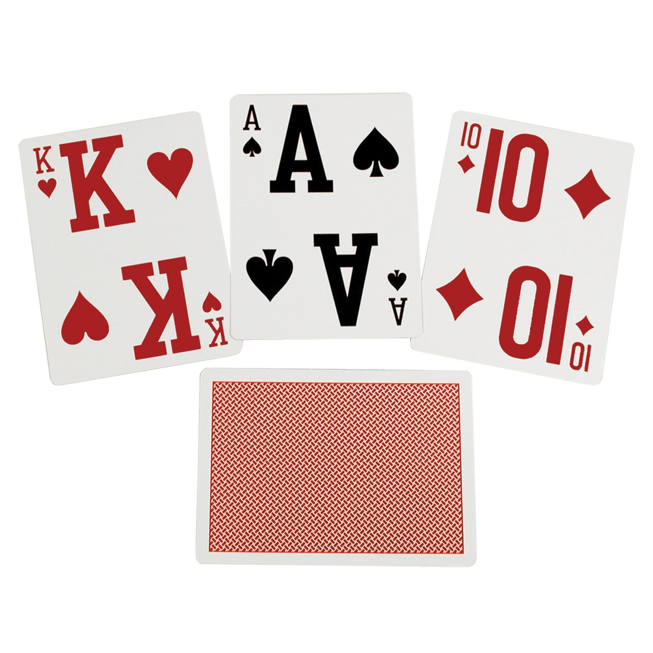 Elite Low Vision Playing Cards- Red- Single Deck