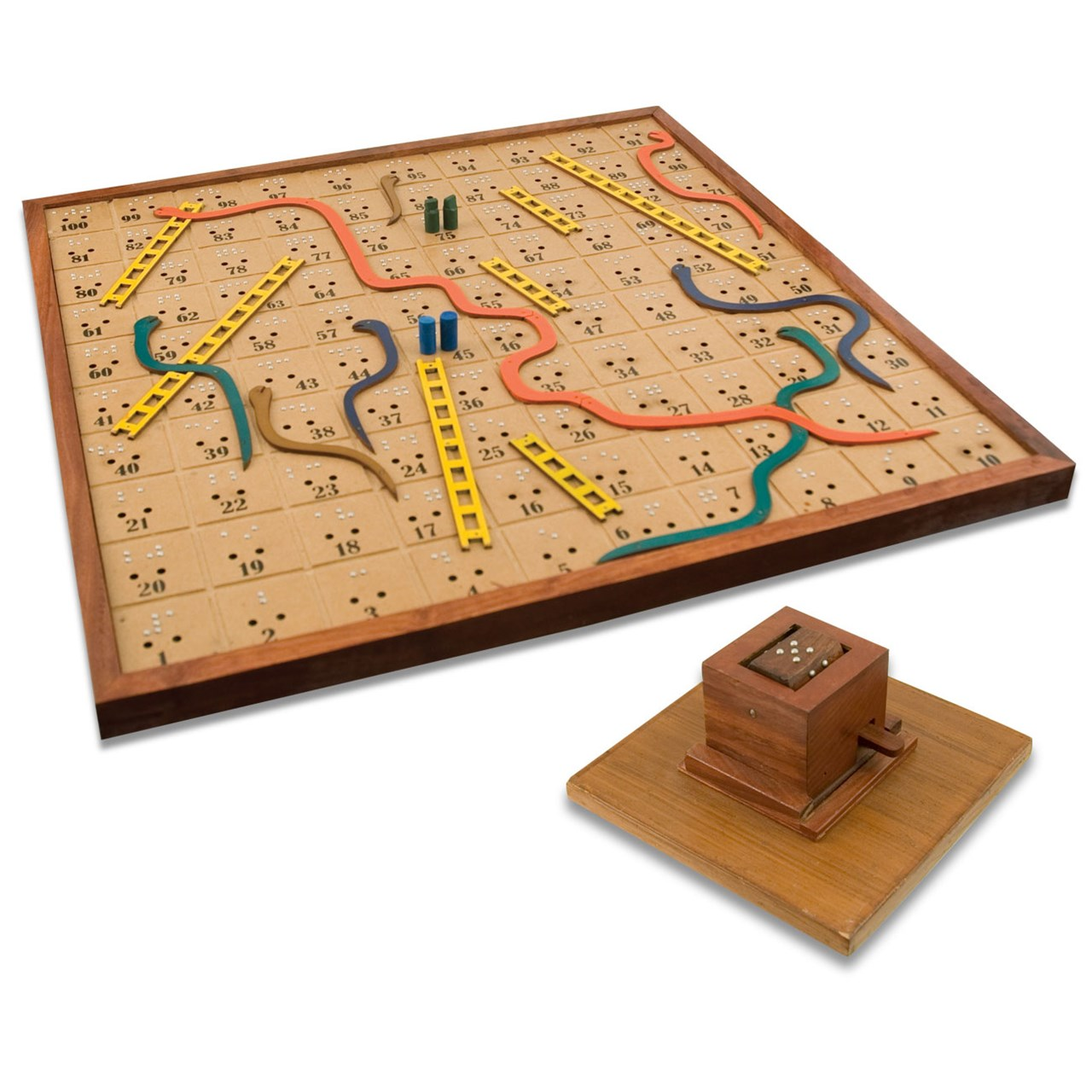 Maxiaids Snakes And Ladders Board Game For The Blind