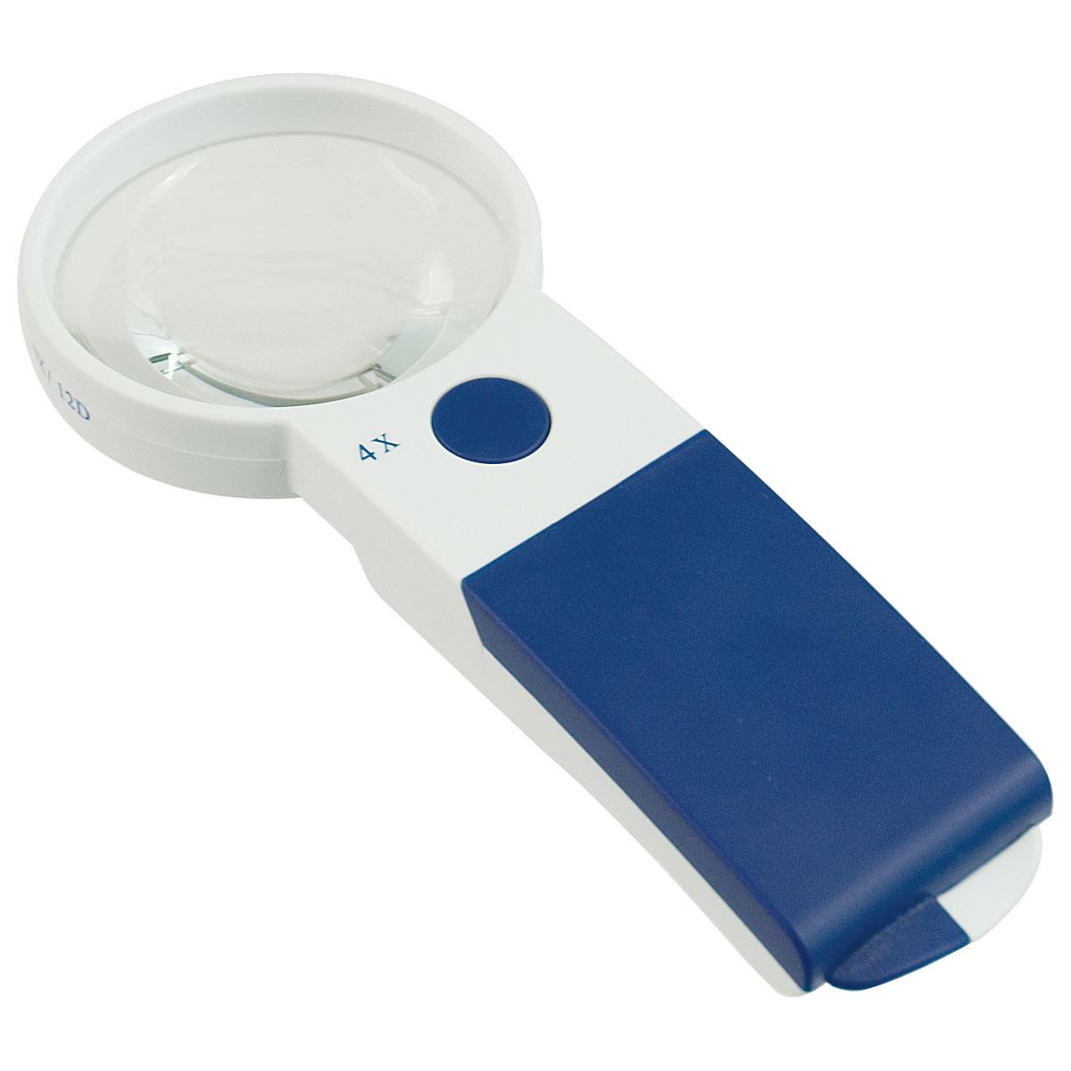 Reizen EZ Touch 4X 12D LED Handheld Magnifier- Round Lens 70mm