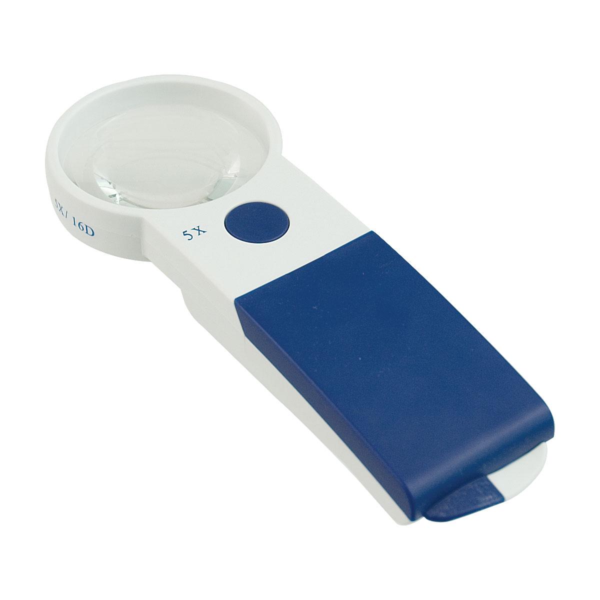 Reizen EZ Touch 5X 16D LED Handheld Magnifier- Round Lens 60mm