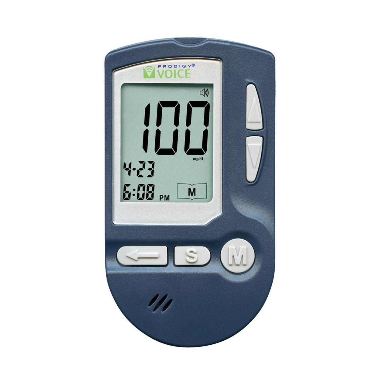 MaxiAids   PRODIGY VOICE Talking Blood Glucose Monitor Kit