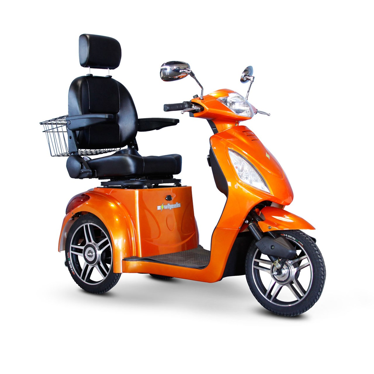 Maxiaids e wheels ew 36 3 wheel electric senior mobility scooter orange for Mobility scooters