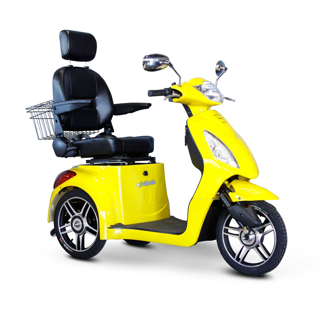 Maxiaids e wheels ew 36 3 wheel electric senior mobility scooter yellow for Mobility scooters