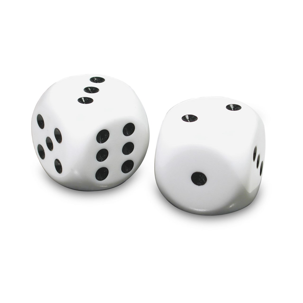Maxiaids Low Vision Large Dice White With Black Dots