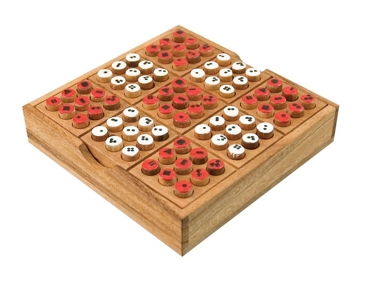 Wood Board Games ~ Maxiaids sudoku wooden board game