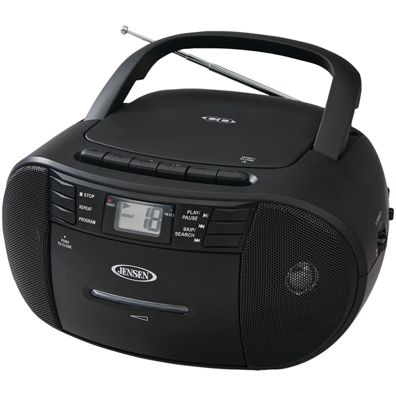 maxiaids jensen cd 545 portable stereo cd player cassette am fm radio. Black Bedroom Furniture Sets. Home Design Ideas