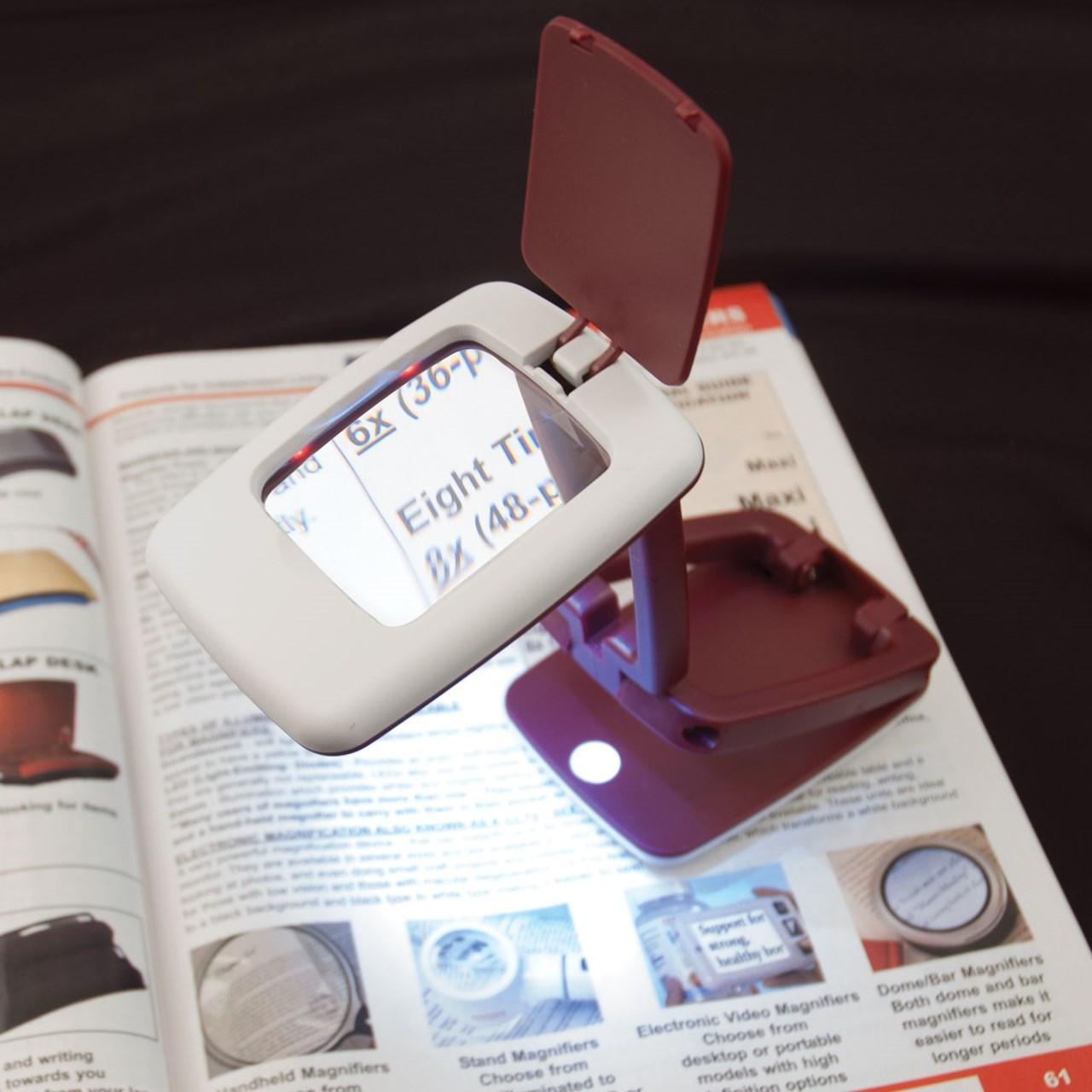 Foldable LED Desk Magnifier- 3x
