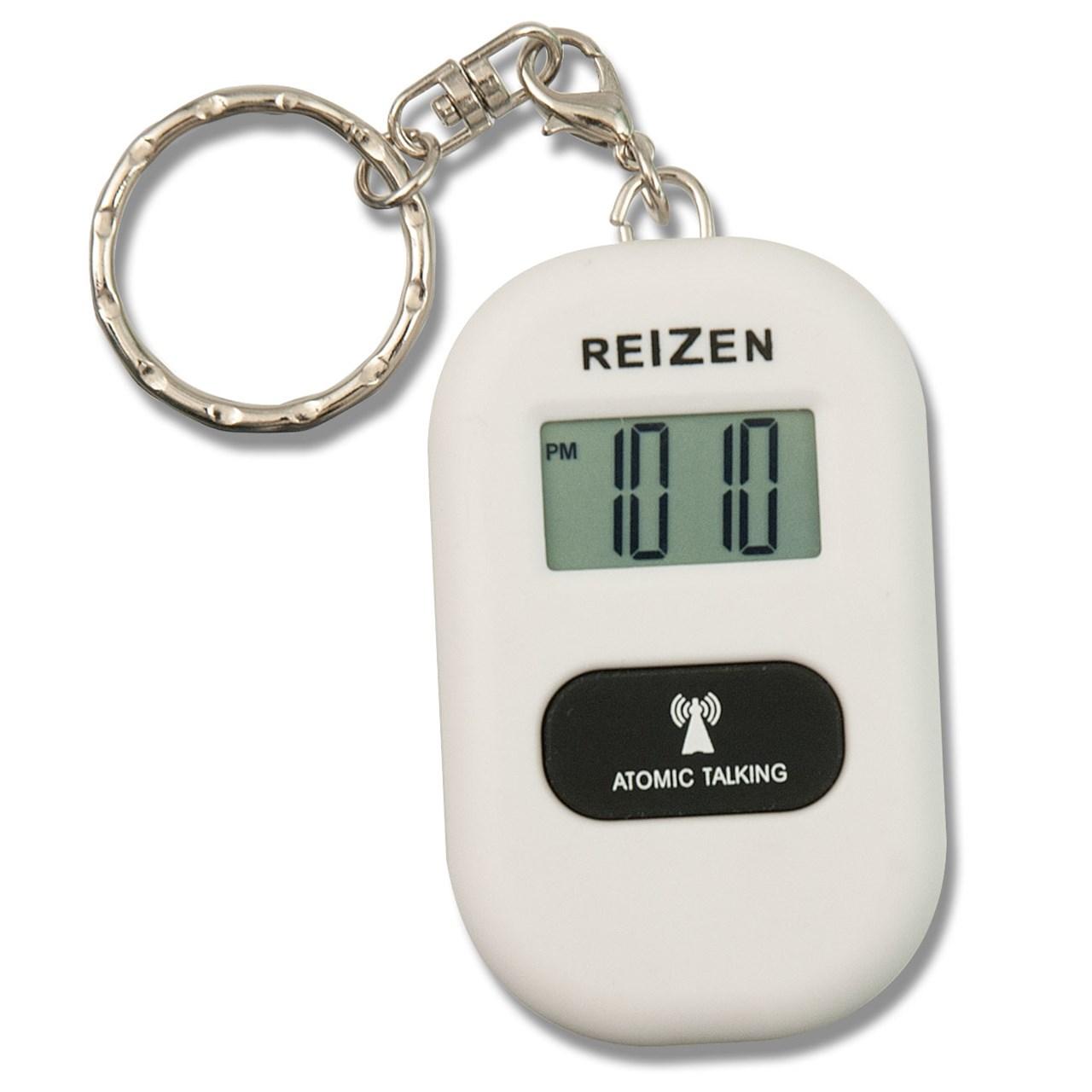 Reizen Talking Atomic Watch Keychain- White