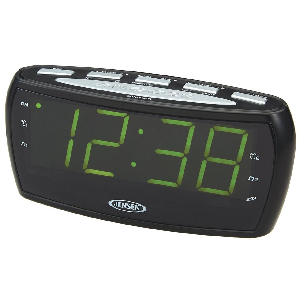 maxiaids jensen digital am fm dual alarm clock radio. Black Bedroom Furniture Sets. Home Design Ideas