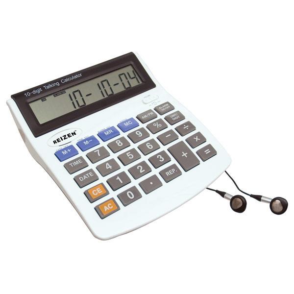 10-Digit Talking Calculator-Earphone-Talking Alarm- Spanish