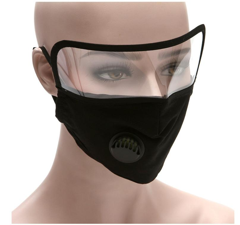 2 IN 1 Reusable Face Mask with Protective Face Shield Black