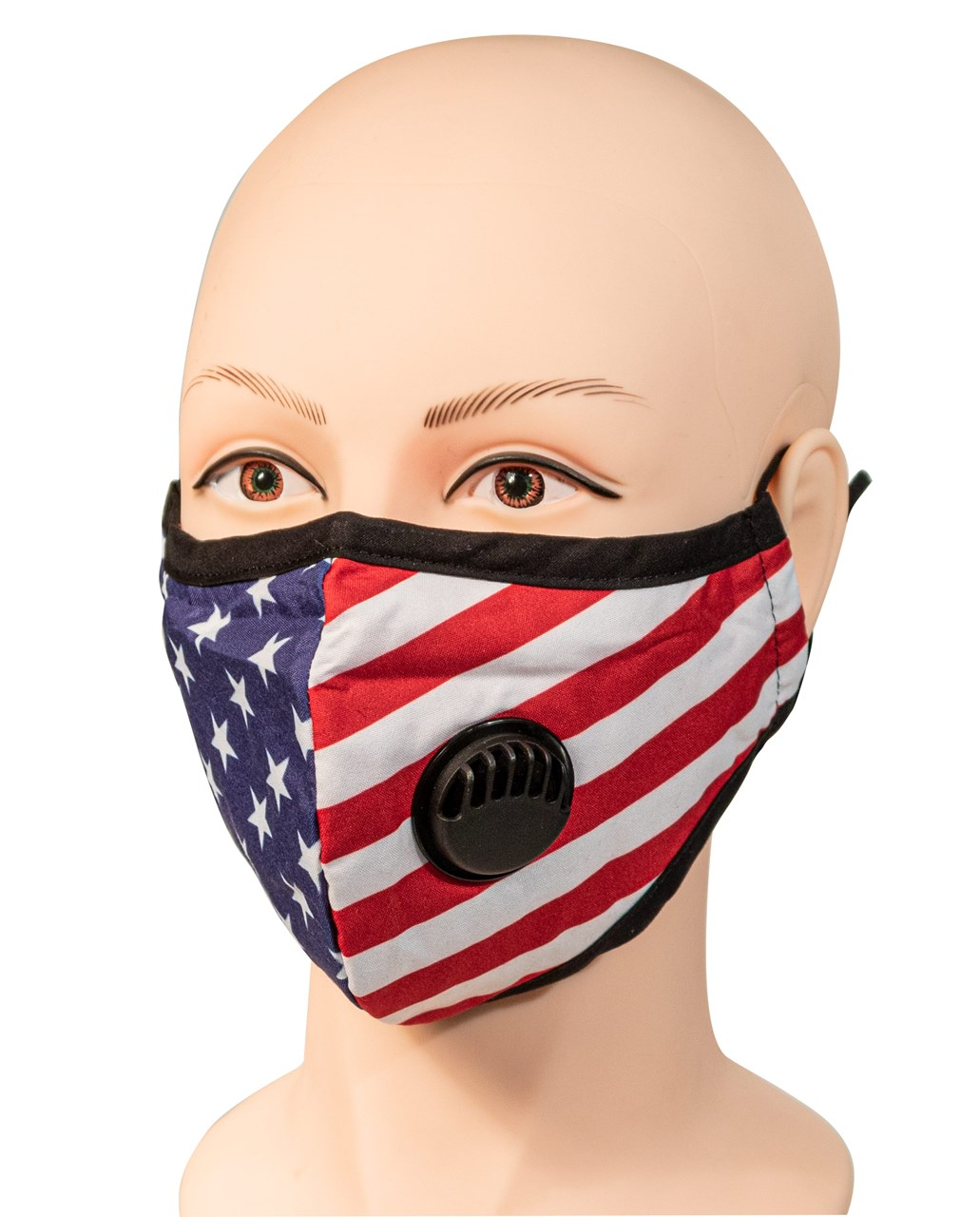 Patriotic Face Mask with Filter vent