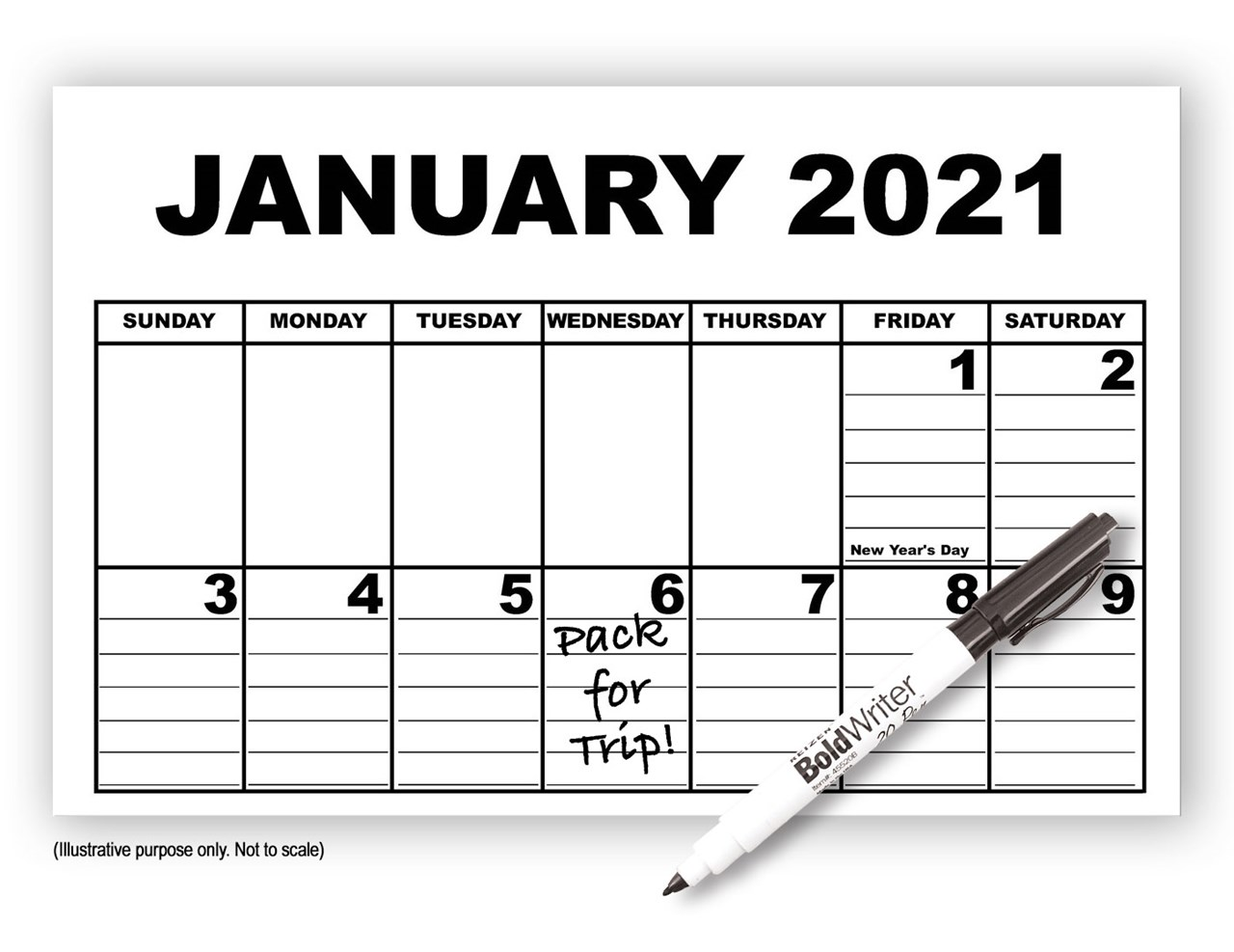 MaxiAids   Giant Appointment Calendar 2021 - with ...